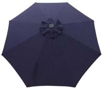 Navy Blue Poly or Protexture Umbrella Replacement Canopy 8 Ribs