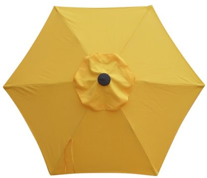 Yellow Poly or Protexture Umbrella Replacement Canopy 6 Ribs